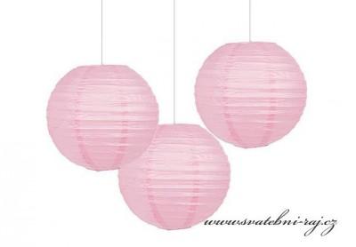 Lampion koule růžový