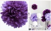 Pom Poms fialové, průměr 25 cm