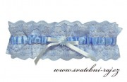Zobrazit detail - Modrý svatební podvazek XL