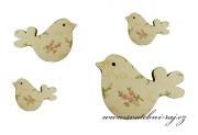 Zobrazit detail - Dřevěné ptáčci s potiskem
