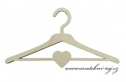 Zobrazit detail - Dřevěné ramínko na svatební šaty