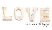 Zobrazit detail - Dřevěné slovo LOVE přírodní