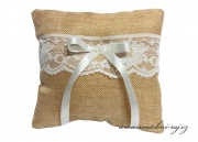 Zobrazit detail - Jutový polštářek s krajkou