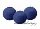 Lampion koule tmavě modrá, průměr 25 cm