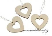 Zobrazit detail - Sada dřevěných srdcí k zavěšení