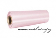 Satén světle růžový, 15 cm šíře