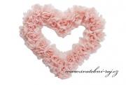 Zobrazit detail - Srdce z růží růžové, průměr 38 cm