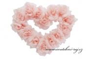 Zobrazit detail - Střední srdce s růžemi růžové