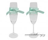 Zobrazit detail - Svatební skleničky s krajkou