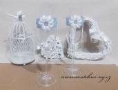 Zobrazit detail - Svatební skleničky s květinou