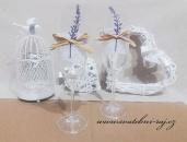 Zobrazit detail - Svatební skleničky s levandulí