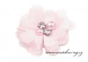 Zobrazit detail - Tylový květ s perličkami světle růžový