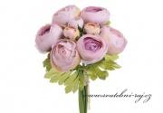 Zobrazit detail - Buket Rununnculus fialovo-růžový