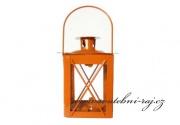 Kovová lucerna oranžová