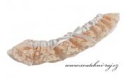 Zobrazit detail - Krajkový podvazek lososový