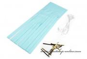 Papírové třásně v barvě mint-blue