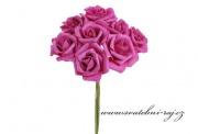 Zobrazit detail - Pěnová růže fuchsia, průměr 6 cm