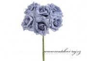Zobrazit detail - Pěnová růže modro-šedá, průměr 7 cm
