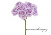 Zobrazit detail - Pěnová růže růžovo-lila, průměr 6 cm
