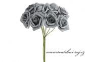 Zobrazit detail - Pěnová růže šedá, průměr 6 cm