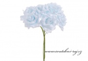 Zobrazit detail - Pěnová růže světle modrá, průměr 7 cm