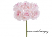Zobrazit detail - Pěnová růže tmavší střed, průměr 7 cm