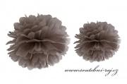 Pom Poms hnědý, průměr 25 cm