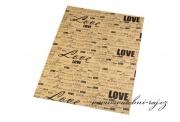 Rustikální papír LOVE