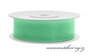 Zobrazit detail - Šifónová stuha mint-green, šíře 19 mm
