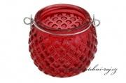 Zobrazit detail - Skleněný svíčník červený