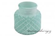Zobrazit detail - Skleněný svíčník mint