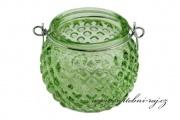 Zobrazit detail - Skleněný svíčník zelený