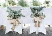 Zdobení svatebních židlí
