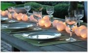 Světelný řetěz smetanový - 10 balónků