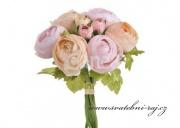Zobrazit detail - Buket Rununnculus růžovo-lososový