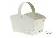 Zobrazit detail - Bílý košíček na výslužku