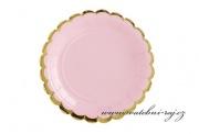 Zobrazit detail - Papírové talířky růžové