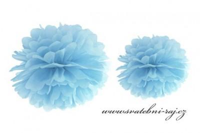 Pom Poms světle modré, průměr 25 cm