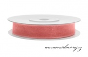 Zobrazit detail - Šifónová stuha růžovo-korálová, šíře 6 mm