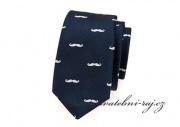 Zobrazit detail - Slim kravata navy-blue s knírky
