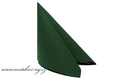 Ubrousky tmavě zelené