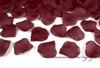 Textilní plátky růží