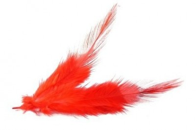 Dekorační peří červené