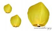 Létající lampion světle žlutý