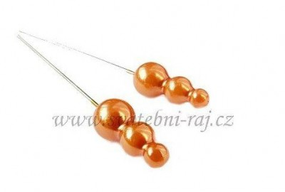Ozdobný špendlík oranžový