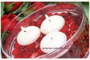 Plovoucí svíčky bílé