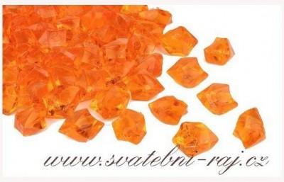 Ledové krystaly oranžové