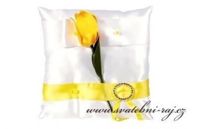 Polštářek s tulipánem
