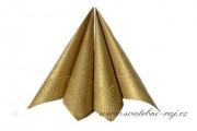Zobrazit detail - Zlaté dekorační ubrousky