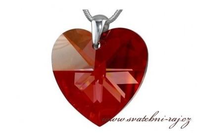 Swarovski řetízek srdce
